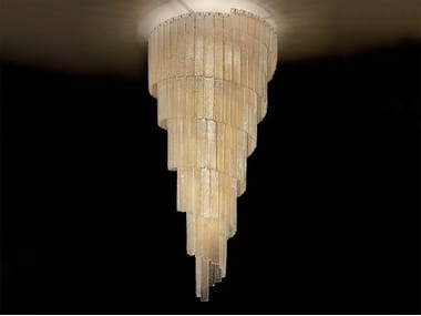 Lampada da soffitto incandescente in graniglia GLASS VE 1146 PL14