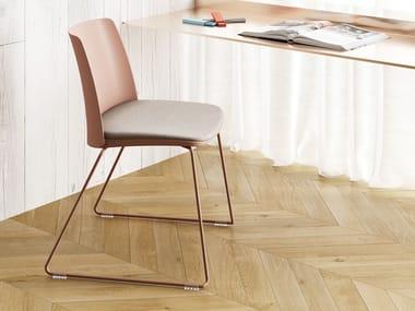 Chaise luge avec coussin intégré VEDETTE | Chaise avec coussin intégré