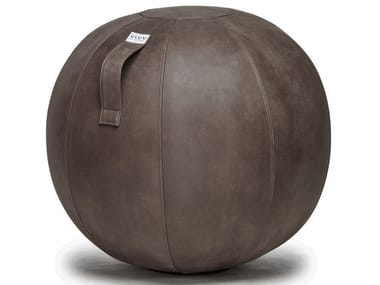 Inflatable polyester pouf with removable lining VEEL