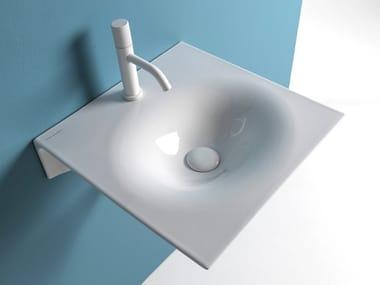 Wall-mounted ceramic washbasin VEIL | Washbasin