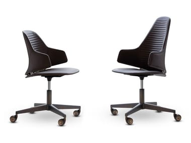 Height-adjustable leather office chair VELA | Office chair