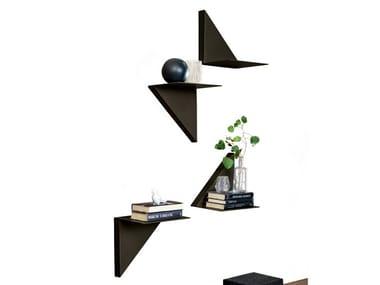 Painted metal wall shelf VELA
