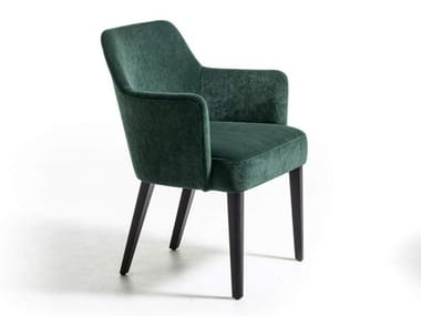 Fabric chair with armrests VELOUR | Chair with armrests