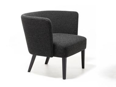 Fabric easy chair with armrests VELOUR   Easy chair
