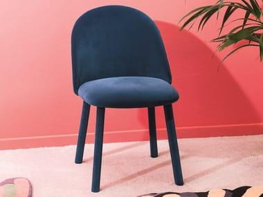 Upholstered velvet chair IOLA | Velvet chair