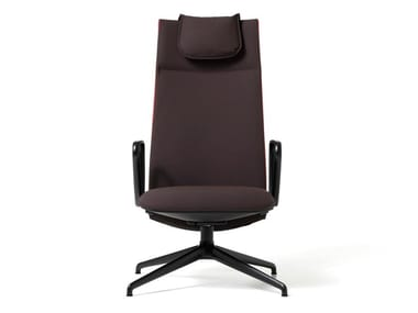 Fabric executive chair with 4-spoke base VELVET | Executive chair with 4-spoke base