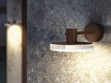 LED direct-indirect light aluminium Outdoor wall lamp VENEXIA | Outdoor wall lamp