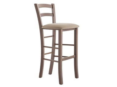 High beech stool with back VENEZIA 42AA.i2