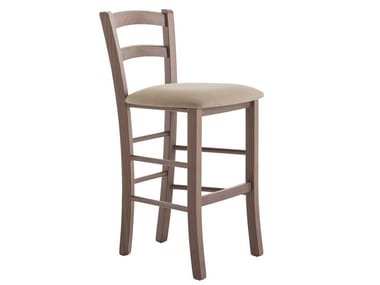 High beech stool with back VENEZIA 42AB.i2