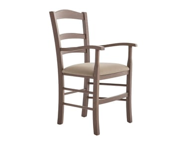 Beech chair with armrests VENEZIA 42AP.i1
