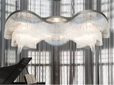 Pendant lamp with crystals VENEZIA 4815