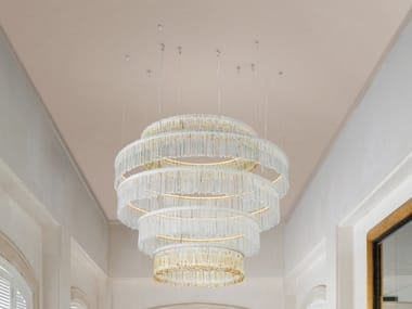 Pendant lamp with crystals VENEZIA 4827