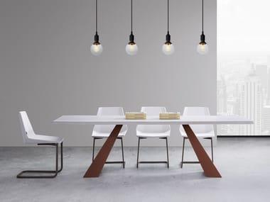 Tavolo rettangolare in metallo e legno VENUS
