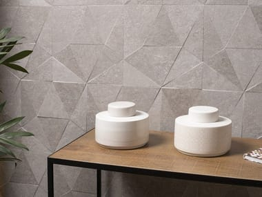 3D Wall Tile with stone effect VERBIER THAO