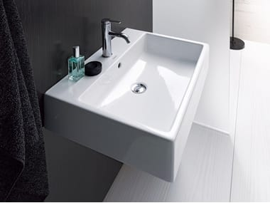 Rectangular Wall Mounted Washbasin With Overflow Vero Air Duravit