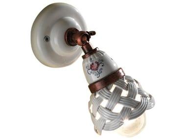 Faretto orientabile rotondo in ceramica VERONA | Faretto orientabile