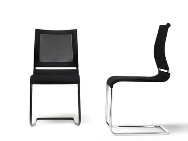 Cantilever mesh chair VERSO | Cantilever chair