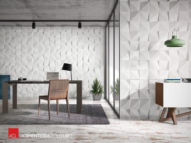 Indoor concrete 3D Wall Cladding VÉRTICES | 3D Wall Cladding