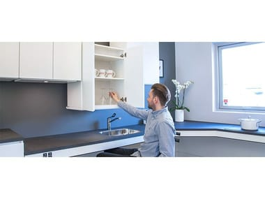 Ergonomic wall-mounted kitchen unit VERTIELECTRIC