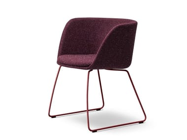 Sled base fabric chair VERVE | Fabric chair