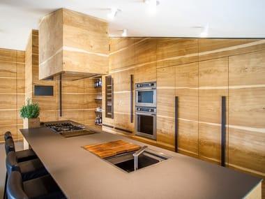 Lapitec® kitchen worktop VESUVIO - TERRA EBANO