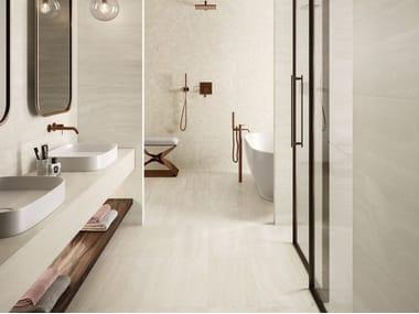 Pavimento/rivestimento in gres porcellanato effetto marmo VIA APPIA VEIN CUT IVORY