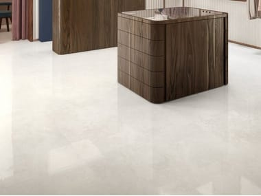 Porcelain stoneware wall/floor tiles with marble effect VIA APPIA CROSS CUT WHITE
