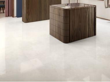 Pavimento/rivestimento in gres porcellanato effetto marmo VIA APPIA CROSS CUT WHITE