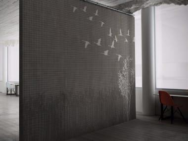 Carta da parati lavabile in vinile effetto tessuto VICHY