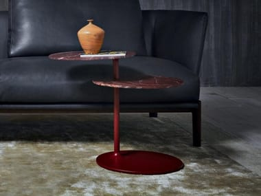 Swivel marble side table VICINO | Marble coffee table