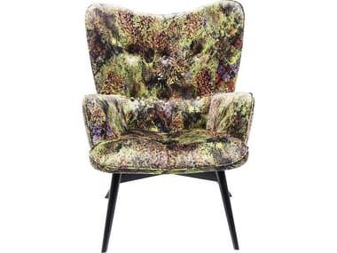 Polyester wingchair high-back VICKY DSCHUNGEL