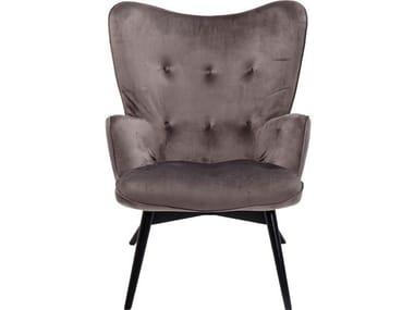 Polyester wingchair high-back VICKY VELVET