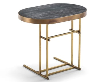 Tavolino ovale in gres porcellanato VICTOR | Tavolino