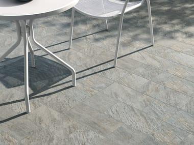 Pavimento per esterni in gres porcellanato effetto pietra VIE DELLA PIETRA QUARZITE