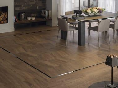 Porcelain stoneware flooring with wood effect ATELIER VIENA