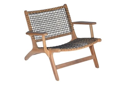Garden teak and synthetic easy chair VIENNA RELAX ORIGINAL