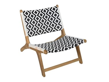 Garden teak and synthetic easy chair VIENNA RELAX DIAMOND