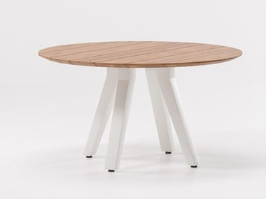 Round teak table VIEQUES | Round table