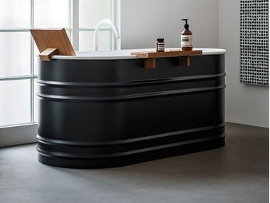 Freestanding oval steel bathtub VIEQUES XS