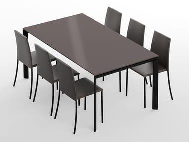 Tavolo con piano in vetro VIGO