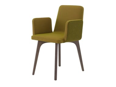 Chaise rembourrée en tissu avec accoudoirs VIK 2 | Chaise avec accoudoirs