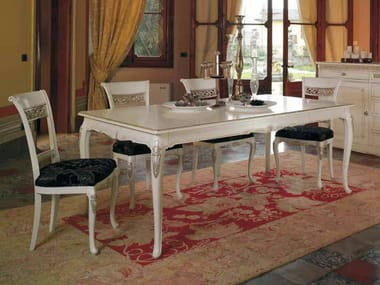 Extending solid wood table VILLA | Lacquered table
