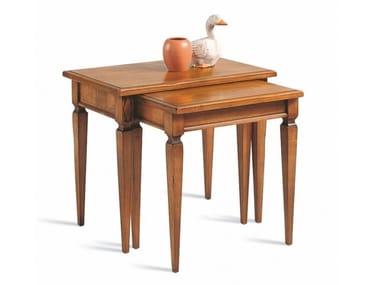 Rectangular cherry wood high side table VILLA BORGHESE | Coffee table