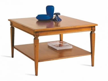 Square cherry wood high side table VILLA BORGHESE | Square coffee table