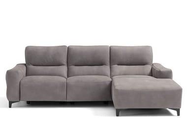 Divano reclinabile a 3 posti con chaise longue VILLAGE | Divano con chaise longue