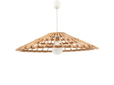 Cone shaped rattan lampshade VINTAGE | Lampshade