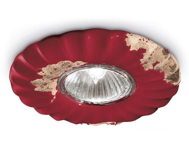 Round recessed ceramic spotlight VINTAGE | Recessed spotlight
