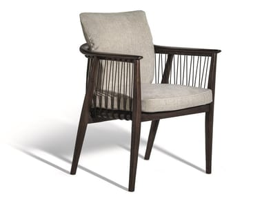 Fabric easy chair with armrests VIOLA | Fabric easy chair