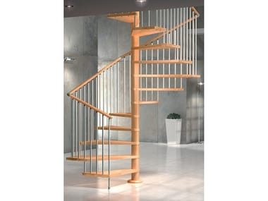 Square beech Spiral staircase VIP Q