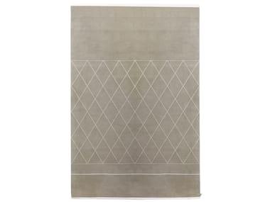 Handmade rectangular wool rug VIRTUALE